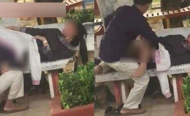 Cặp đôi vô tư thể hiện những hành động 'nhạy cảm' giữa quán cà phê Ảnh 3