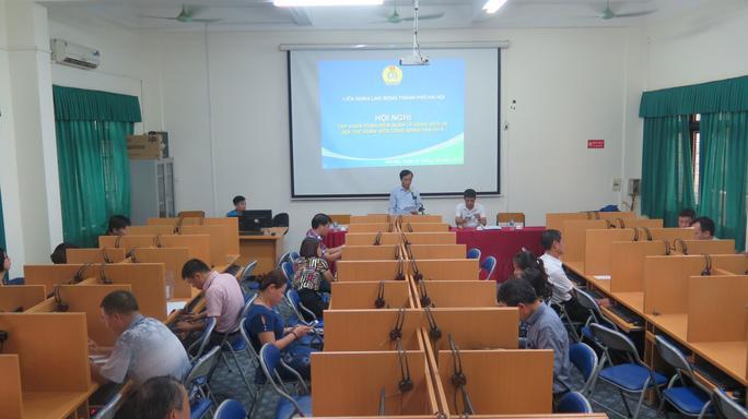 Hà Nội: Tập huấn sử dụng phần mềm quản lý đoàn viên Ảnh 1