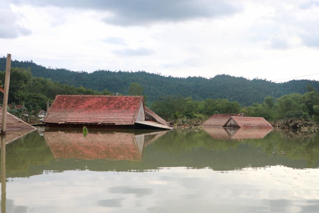 Xót xa những ngôi nhà bị ngập đến nóc ở vùng lũ Quảng Bình Ảnh 19