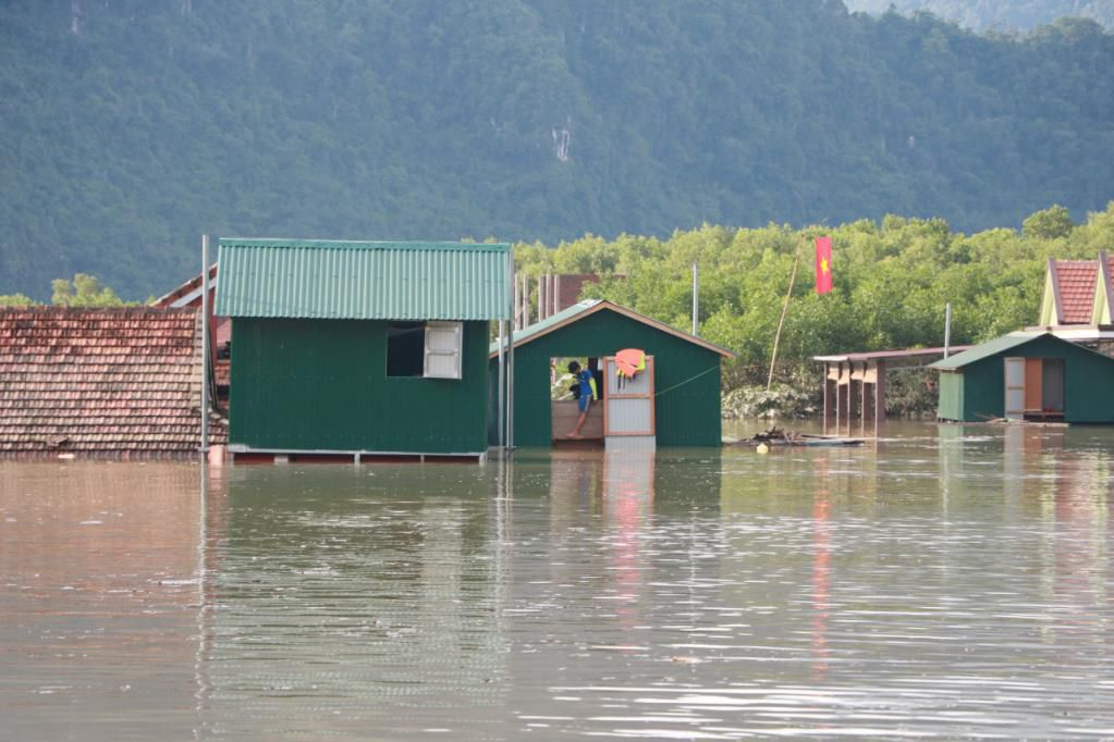 Xót xa những ngôi nhà bị ngập đến nóc ở vùng lũ Quảng Bình Ảnh 12