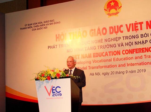 Phó Chủ tịch Quốc hội: 'Tiếp tục đổi mới mạnh mẽ giáo dục nghề nghiệp' Ảnh 1
