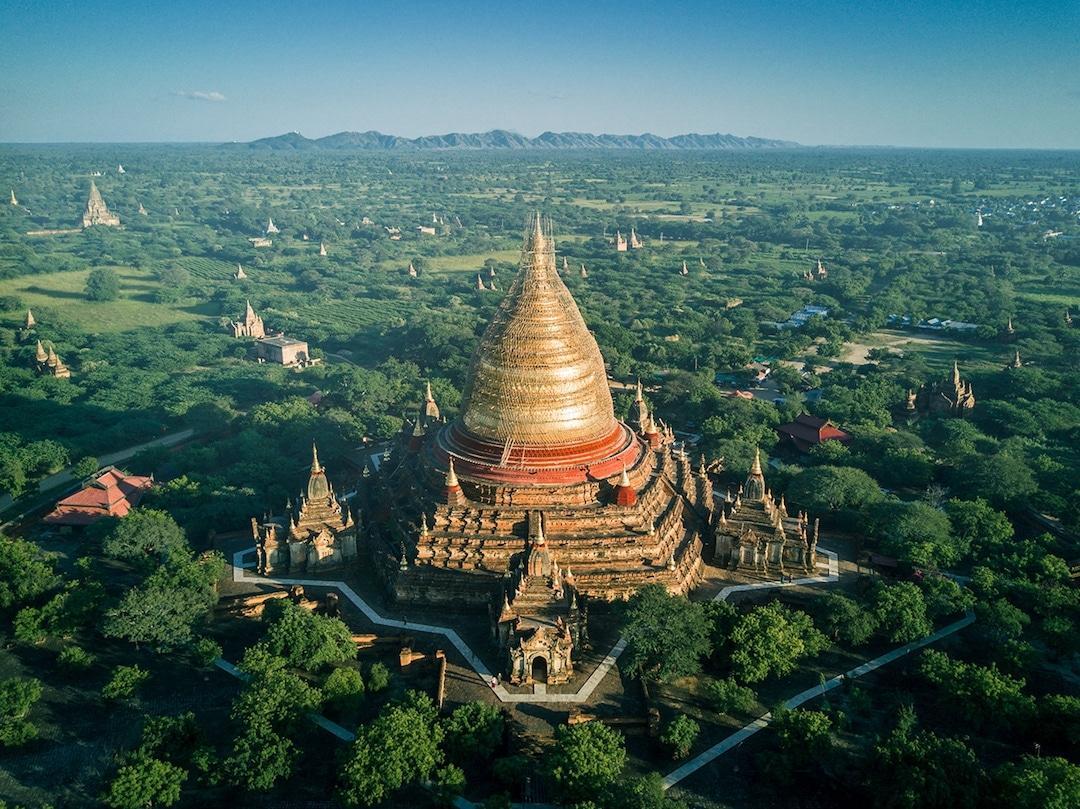 Chiêm ngưỡng loạt ảnh từ trên cao, Myanmar xứng danh ' đất nước của những ngôi chùa' Ảnh 3