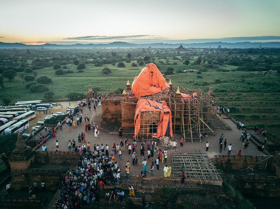 Chiêm ngưỡng loạt ảnh từ trên cao, Myanmar xứng danh ' đất nước của những ngôi chùa' Ảnh 9