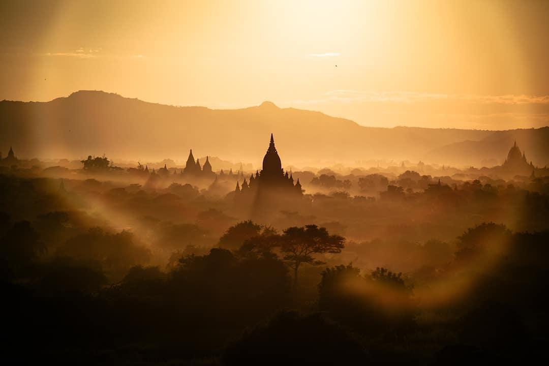 Chiêm ngưỡng loạt ảnh từ trên cao, Myanmar xứng danh ' đất nước của những ngôi chùa' Ảnh 12