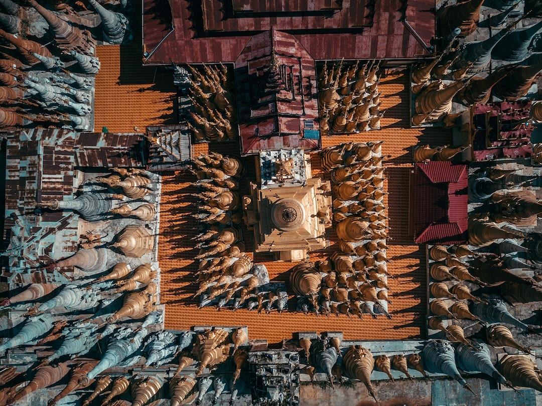 Chiêm ngưỡng loạt ảnh từ trên cao, Myanmar xứng danh ' đất nước của những ngôi chùa' Ảnh 8