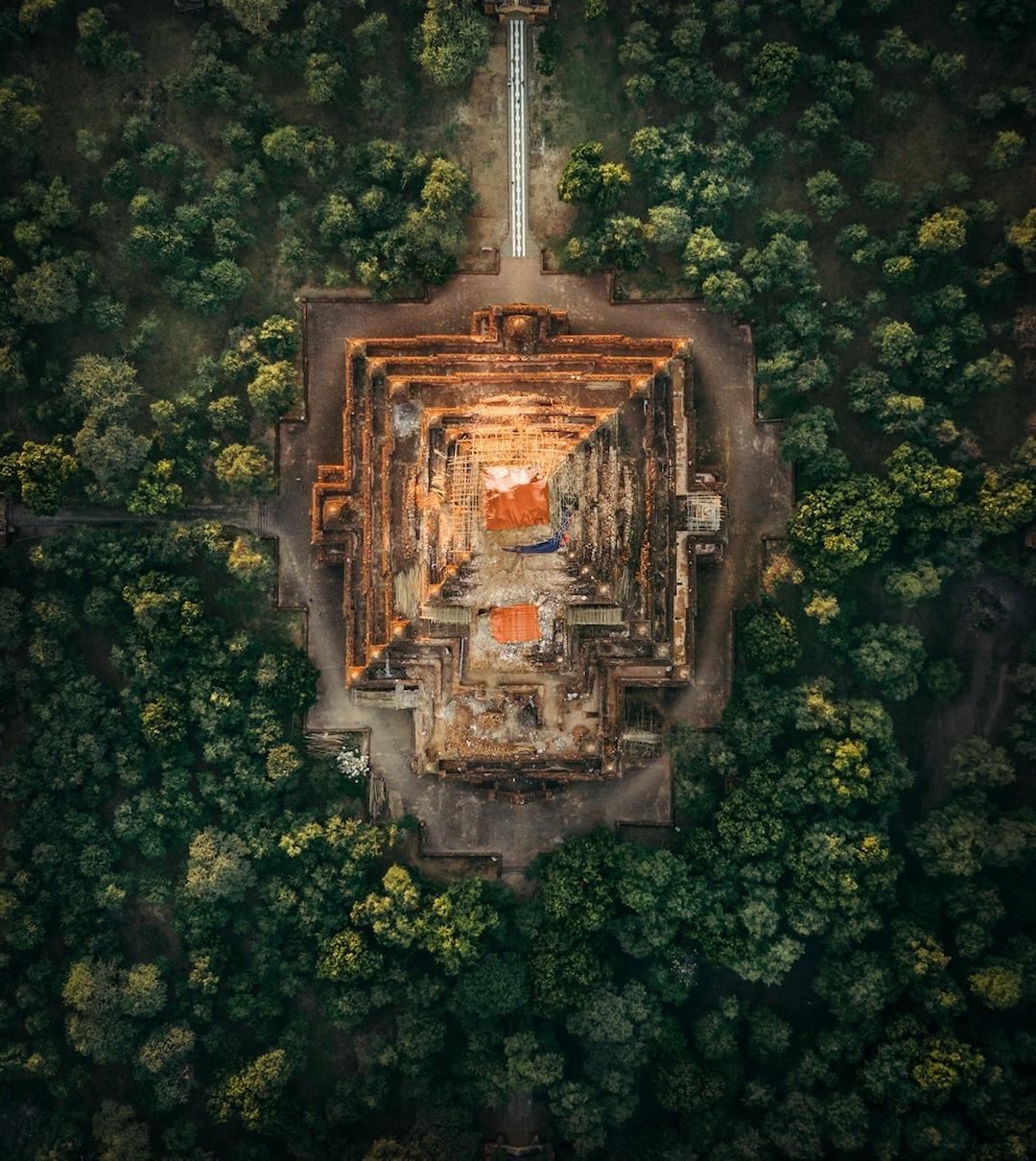 Chiêm ngưỡng loạt ảnh từ trên cao, Myanmar xứng danh ' đất nước của những ngôi chùa' Ảnh 1