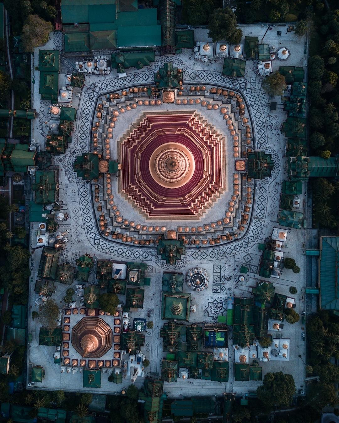 Chiêm ngưỡng loạt ảnh từ trên cao, Myanmar xứng danh ' đất nước của những ngôi chùa' Ảnh 7