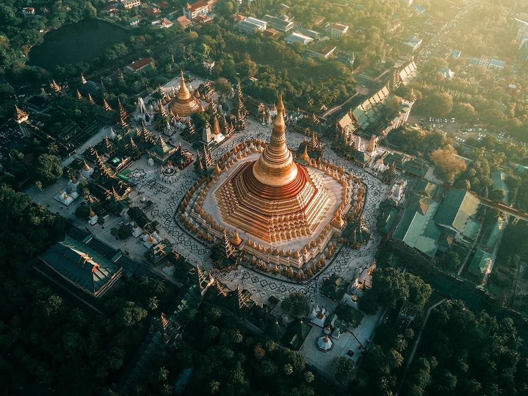 Chiêm ngưỡng loạt ảnh từ trên cao, Myanmar xứng danh ' đất nước của những ngôi chùa' Ảnh 6