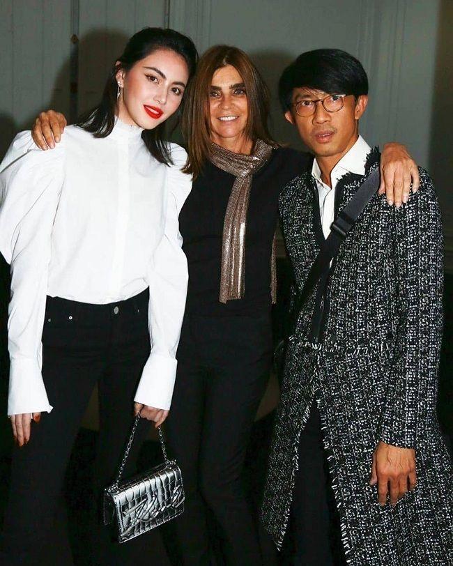 'Ma nữ' Mai Davika đẹp mê hồn trong buổi triển lãm Áo sơ mi trắng tri ân ông hoàng Karl Lagerfeld Ảnh 6