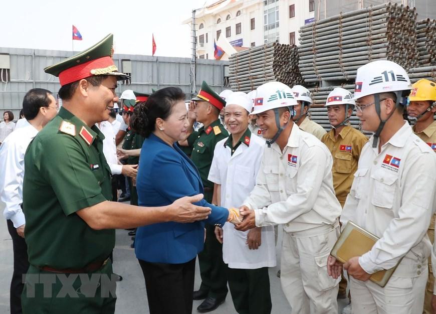 Chủ tịch Quốc hội Nguyễn Thị Kim Ngân thăm công trình Nhà Quốc hội Lào Ảnh 7