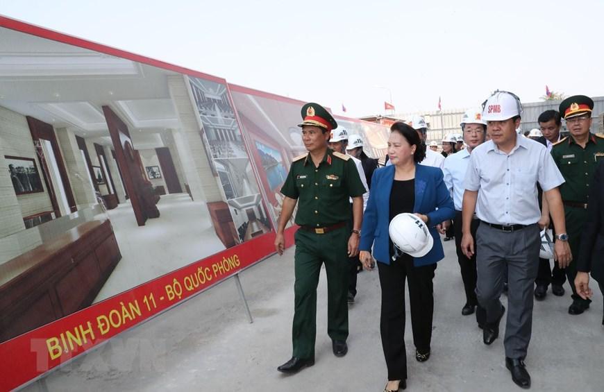 Chủ tịch Quốc hội Nguyễn Thị Kim Ngân thăm công trình Nhà Quốc hội Lào Ảnh 5