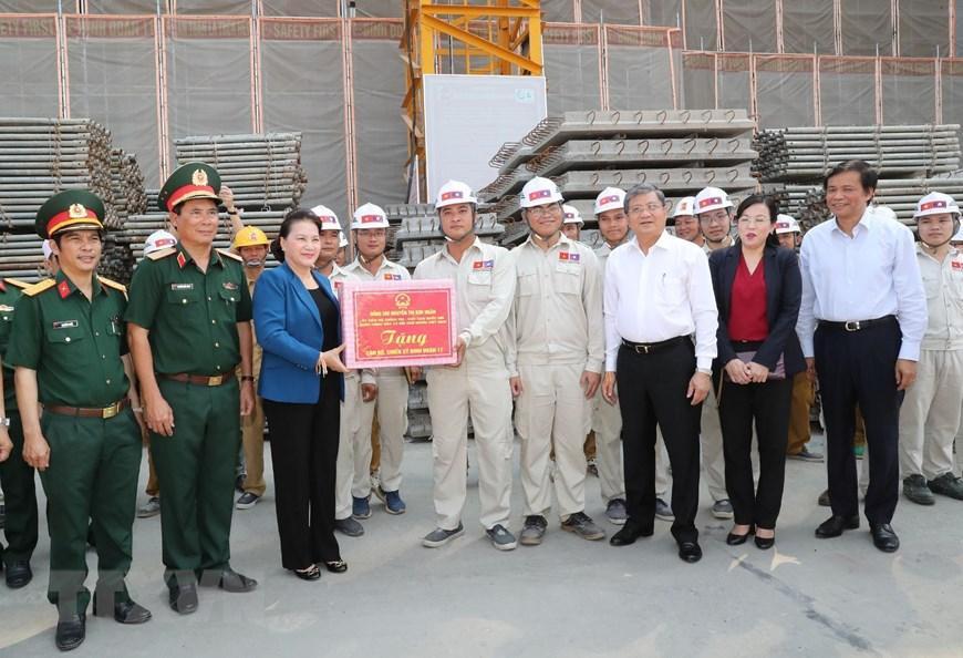 Chủ tịch Quốc hội Nguyễn Thị Kim Ngân thăm công trình Nhà Quốc hội Lào Ảnh 4