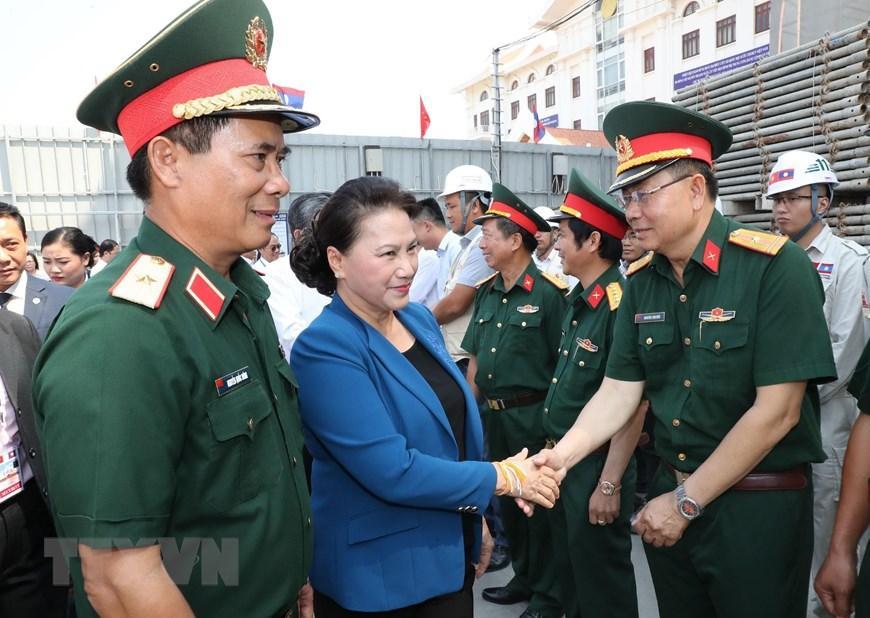Chủ tịch Quốc hội Nguyễn Thị Kim Ngân thăm công trình Nhà Quốc hội Lào Ảnh 1