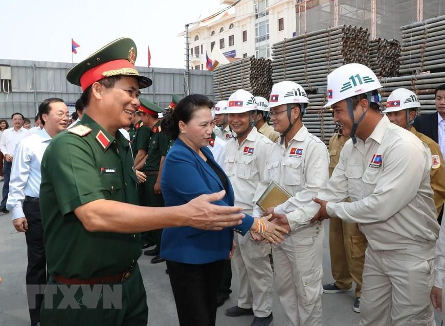 Chủ tịch Quốc hội Nguyễn Thị Kim Ngân thăm công trình Nhà Quốc hội Lào Ảnh 8