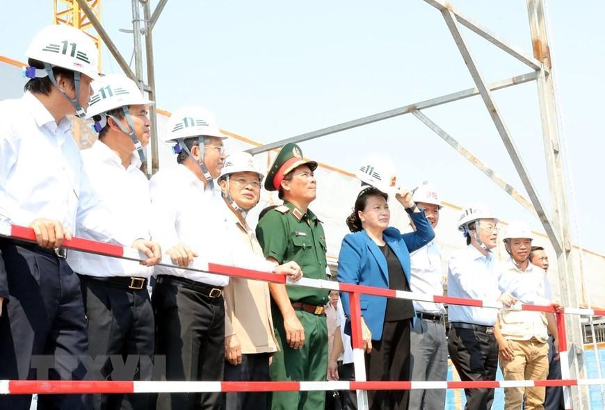 Chủ tịch Quốc hội Nguyễn Thị Kim Ngân thăm công trình Nhà Quốc hội Lào Ảnh 6