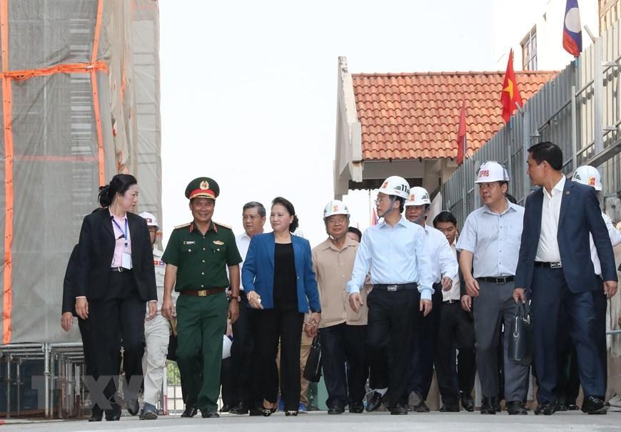 Chủ tịch Quốc hội Nguyễn Thị Kim Ngân thăm công trình Nhà Quốc hội Lào Ảnh 3