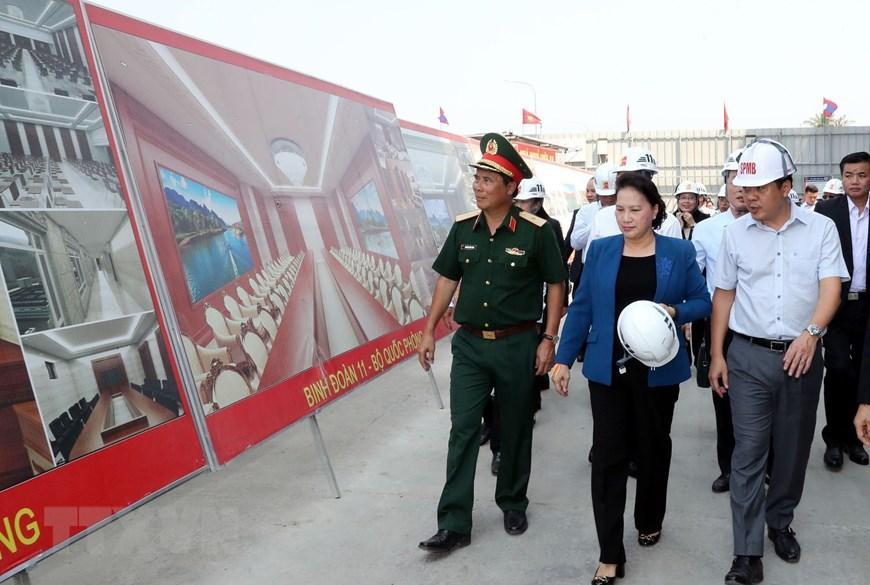 Chủ tịch Quốc hội Nguyễn Thị Kim Ngân thăm công trình Nhà Quốc hội Lào Ảnh 2