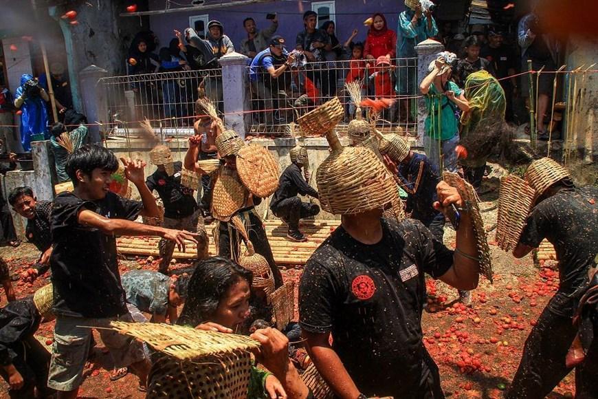 Thích thú với lễ hội 'đại chiến cà chua' ở đất nước Indonesia Ảnh 4