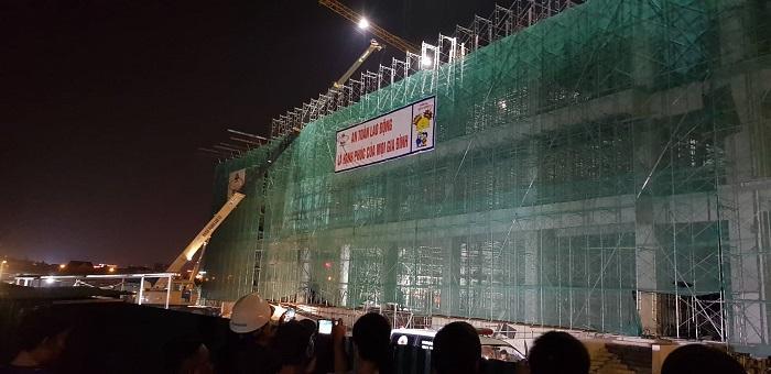 Hải Dương: Sập giàn giáo công trình xây dựng Trung tâm Văn hóa Xứ Đông Ảnh 1