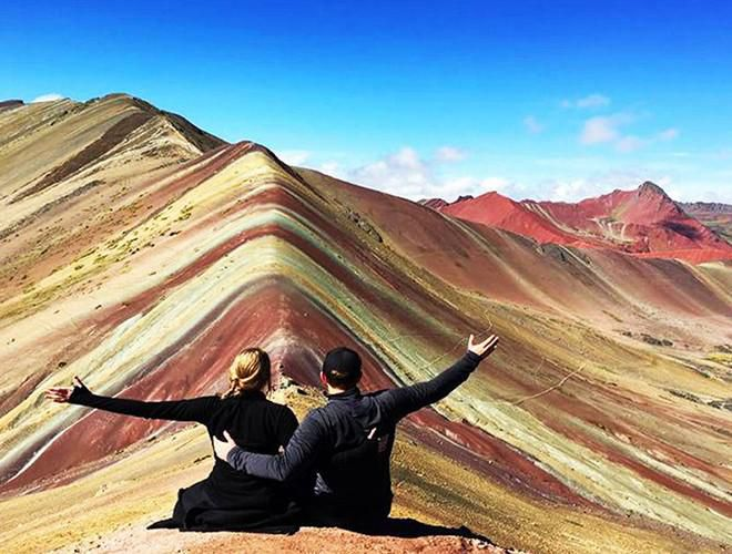 Chiêm ngưỡng ngọn núi 'Cầu vồng' có màu sắc sặc sỡ ở Peru Ảnh 17