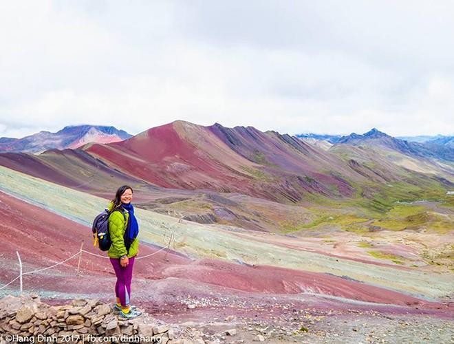 Chiêm ngưỡng ngọn núi 'Cầu vồng' có màu sắc sặc sỡ ở Peru Ảnh 12