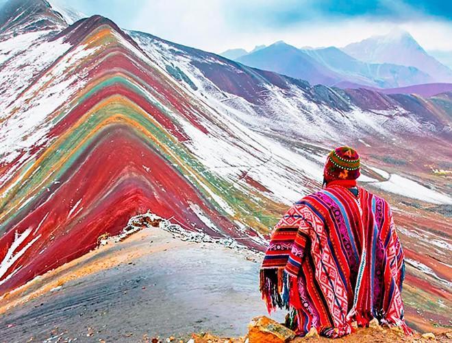 Chiêm ngưỡng ngọn núi 'Cầu vồng' có màu sắc sặc sỡ ở Peru Ảnh 5