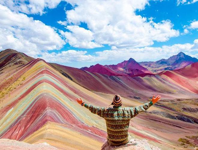 Chiêm ngưỡng ngọn núi 'Cầu vồng' có màu sắc sặc sỡ ở Peru Ảnh 22