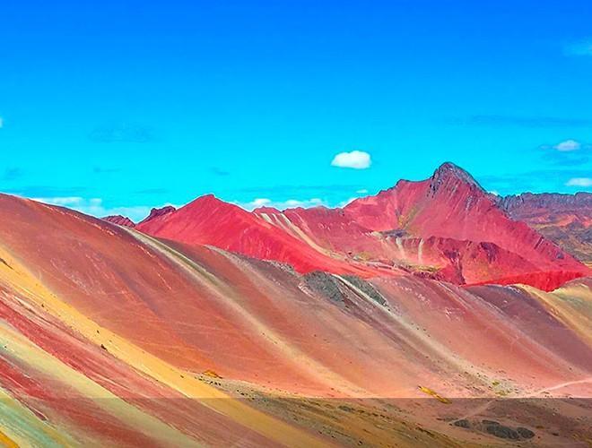 Chiêm ngưỡng ngọn núi 'Cầu vồng' có màu sắc sặc sỡ ở Peru Ảnh 21