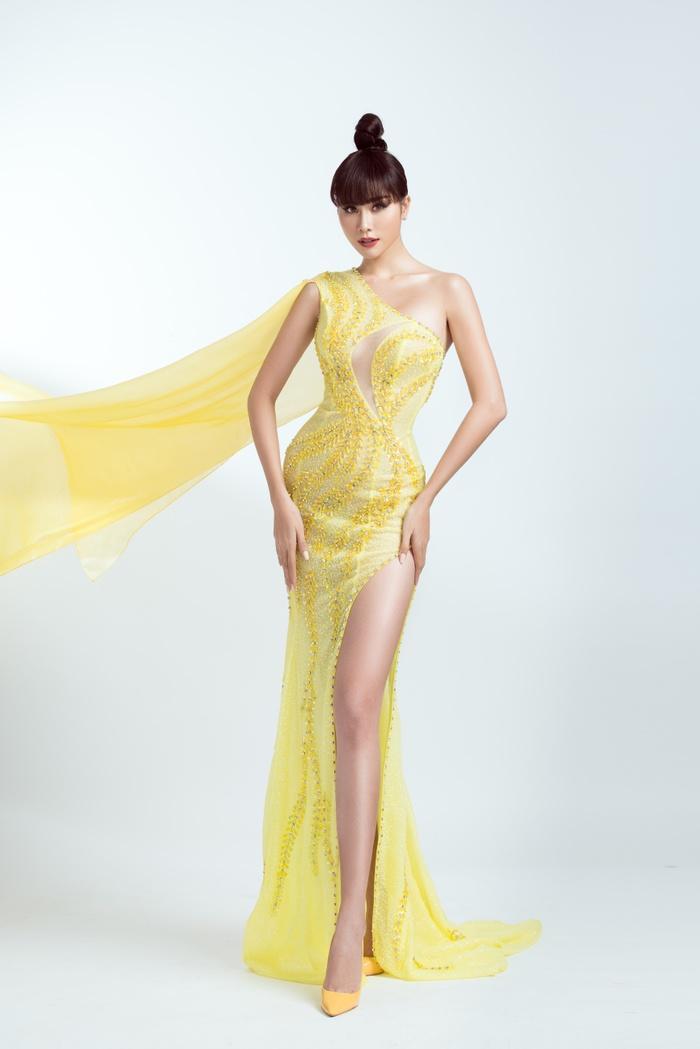 Hoàng Hạnh diện trang phục lấy cảm hứng từ 'Hoa hồng xanh' trong đêm chung kết Miss Earth Ảnh 6