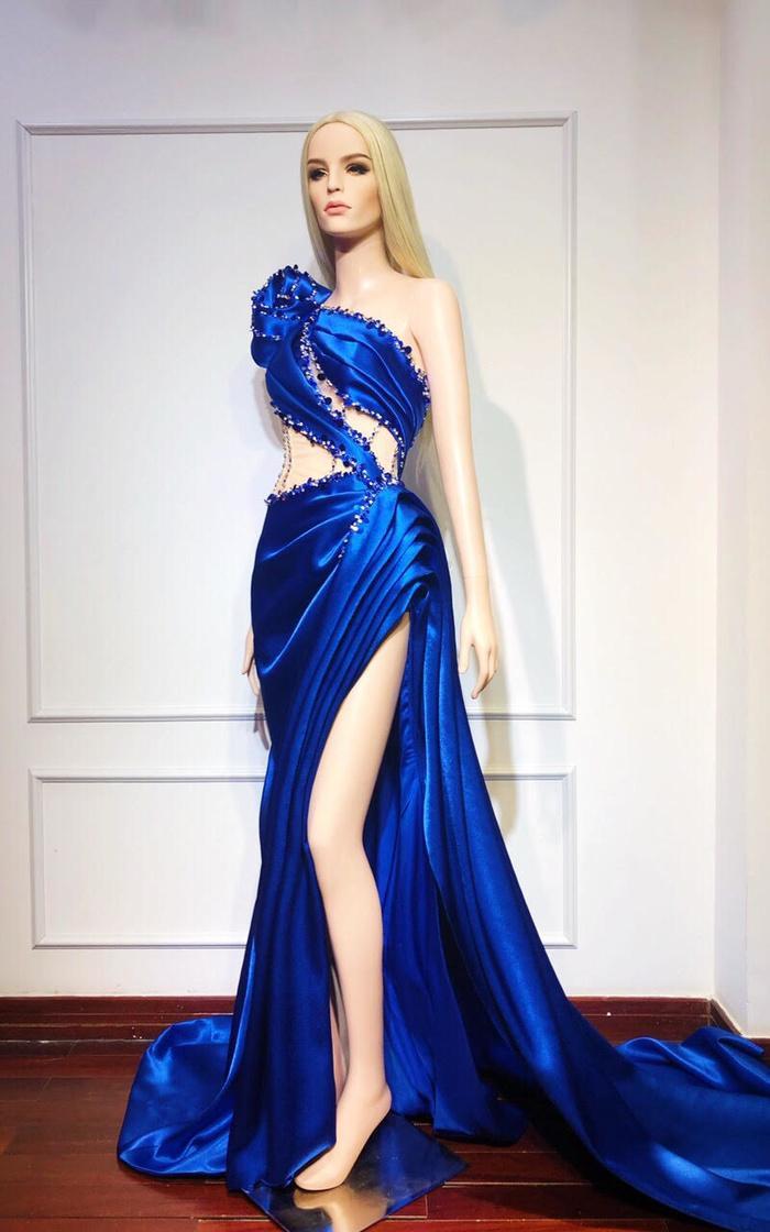 Hoàng Hạnh diện trang phục lấy cảm hứng từ 'Hoa hồng xanh' trong đêm chung kết Miss Earth Ảnh 2