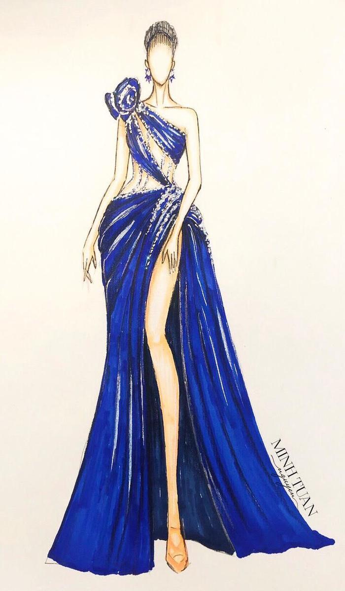 Hoàng Hạnh diện trang phục lấy cảm hứng từ 'Hoa hồng xanh' trong đêm chung kết Miss Earth Ảnh 1