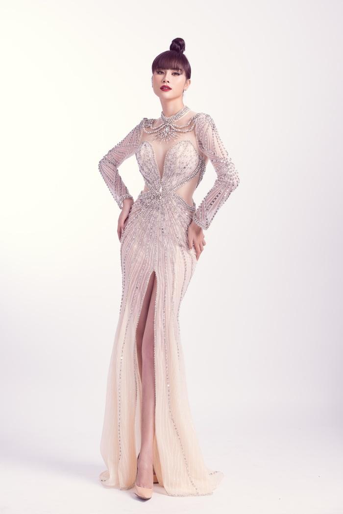 Hoàng Hạnh diện trang phục lấy cảm hứng từ 'Hoa hồng xanh' trong đêm chung kết Miss Earth Ảnh 8
