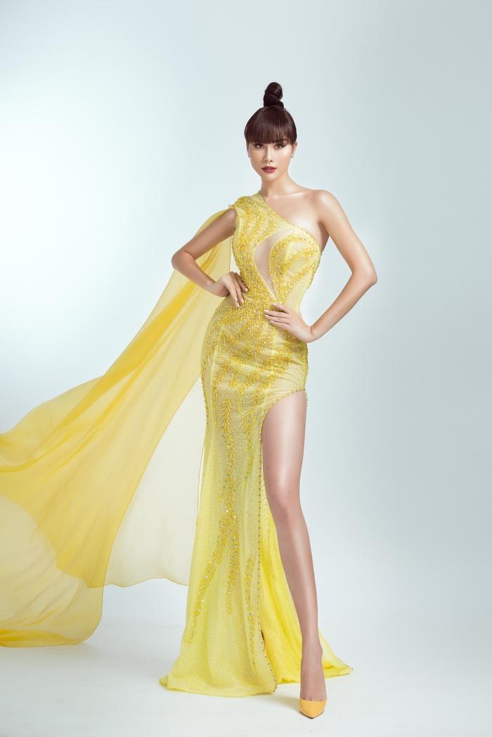 Hoàng Hạnh diện trang phục lấy cảm hứng từ 'Hoa hồng xanh' trong đêm chung kết Miss Earth Ảnh 5