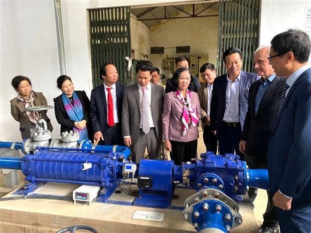 Hà Giang khánh thành công trình bơm nước sinh hoạt không dùng điện Ảnh 2