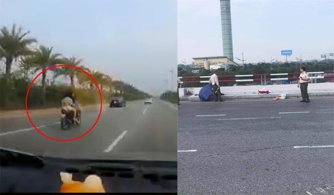Hai nữ giới thương vong khi điều khiển xe máy vào đường dẫn lên nhà ga Nội Bài Ảnh 1