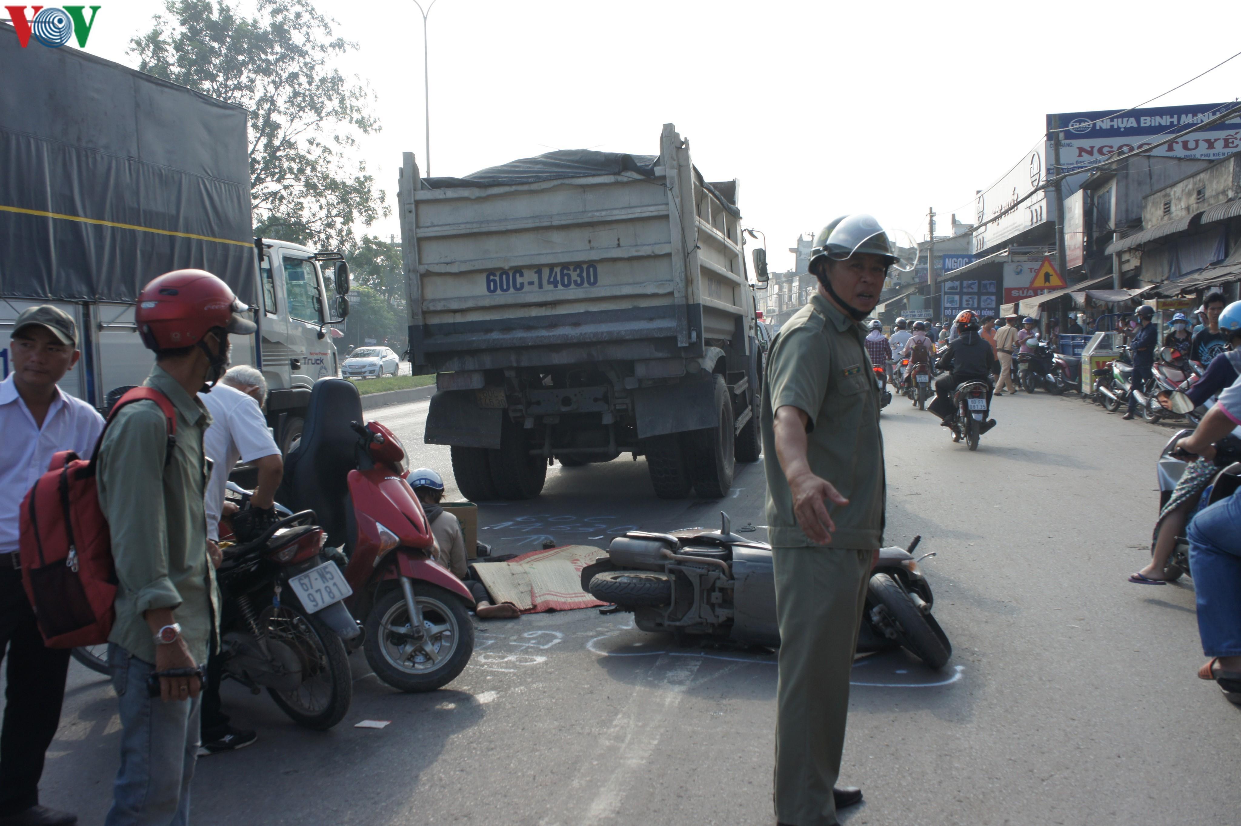 Lại tai nạn giao thông gây chết người liên quan đến xe ben ở Đồng Nai Ảnh 1