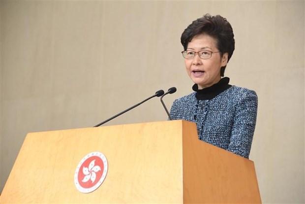 Trưởng đặc khu Hong Kong kêu gọi người dân tích cực đi bỏ phiếu Ảnh 1