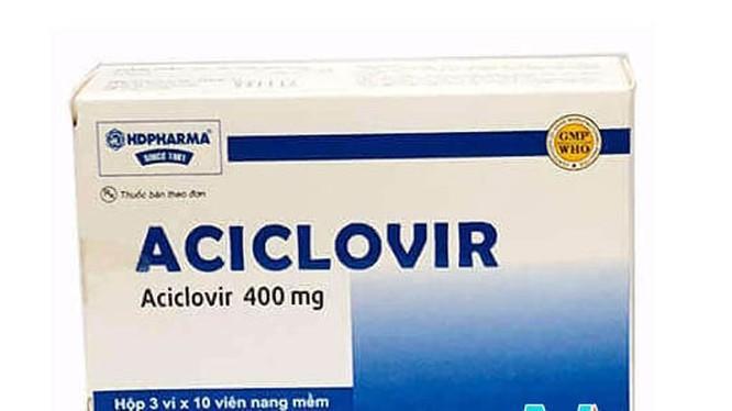 Thuốc Aciclovir bị thu hồi vì không đạt tiêu chuẩn chất lượng Ảnh 1