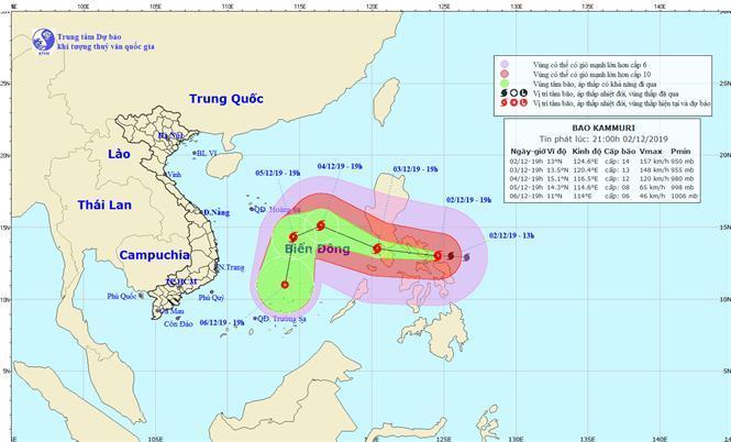 Kêu gọi tàu thuyền trên biển ứng phó bão Kammuri Ảnh 1
