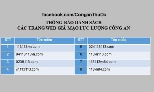 Cảnh báo trang web giả mạo cổng thông tin điện tử của lực lượng Công an Ảnh 1