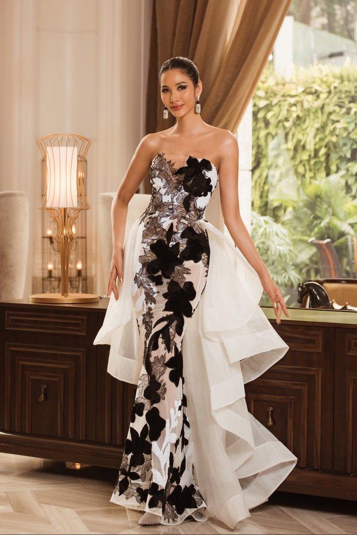 Hoàng Thùy diện váy dạ hội lộng lẫy chỉ vài tiếng đồng hồ, fan tiếc nuối: 'Đáng để mặc thi Bán kết' Ảnh 4