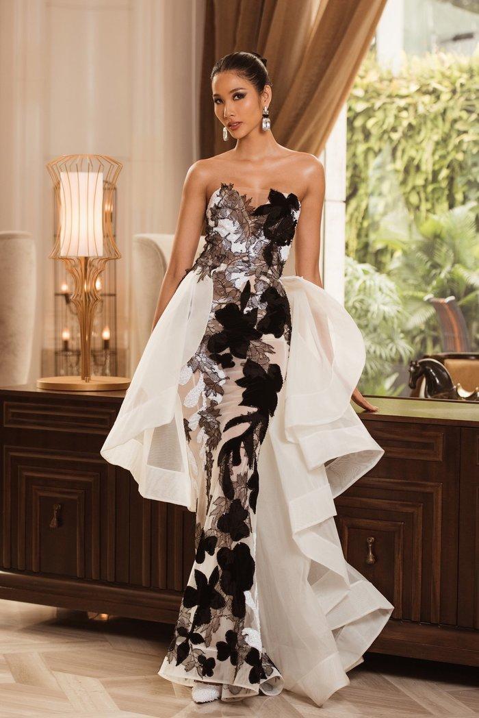 Hoàng Thùy diện váy dạ hội lộng lẫy chỉ vài tiếng đồng hồ, fan tiếc nuối: 'Đáng để mặc thi Bán kết' Ảnh 2