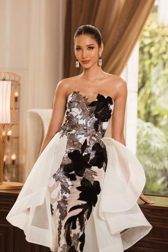 Hoàng Thùy diện váy dạ hội lộng lẫy chỉ vài tiếng đồng hồ, fan tiếc nuối: 'Đáng để mặc thi Bán kết' Ảnh 1