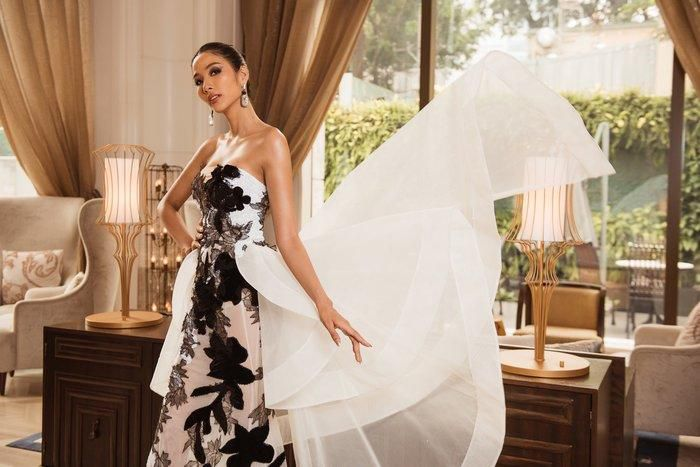 Hoàng Thùy diện váy dạ hội lộng lẫy chỉ vài tiếng đồng hồ, fan tiếc nuối: 'Đáng để mặc thi Bán kết' Ảnh 5