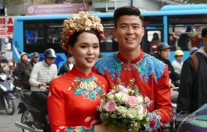 Cô dâu Quỳnh Anh rạng rỡ về nhà chồng Ảnh 1