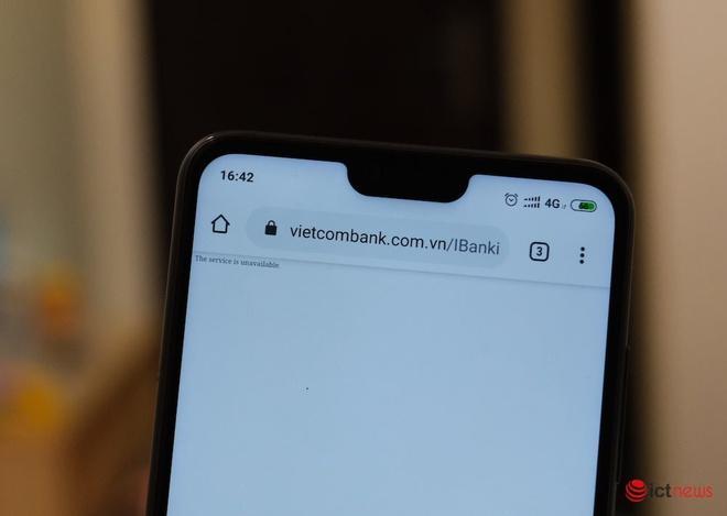 Cuối năm, website Internet Banking của Vietcombank không truy cập được Ảnh 1