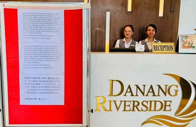 Khách sạn ở Đà Nẵng treo biển từ chối nhận khách Trung Quốc vì sợ virus corona Ảnh 1