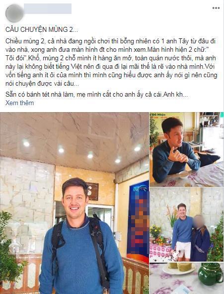Bi hài chuyện khách Tây du lịch Việt Nam vào dịp Tết: 'Đánh liều' vào nhà dân xin ăn vì hàng quán đóng cửa Ảnh 1