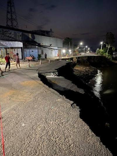 An Giang: Quốc lộ 91 lại xuất hiện vết rạn nứt kéo dài Ảnh 2