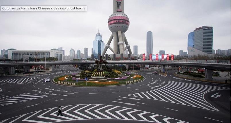 Hình ảnh các thành phố nhộn nhịp trở nên vắng ngắt vì virus corona Ảnh 3